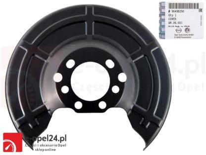 Oryginalna tylna osłona tarczy hamulcowej Opel - Astra G II H III / Meriva A B / Zafira A B / Combo C 546435 / 90498290