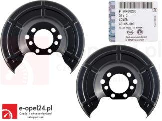 Oryginalny tylny komplet osłon tarczy hamulcowej Opel - 90498290 / 546435