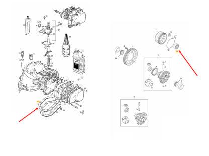Zestaw do uszczelnienia skrzyni F13 F17