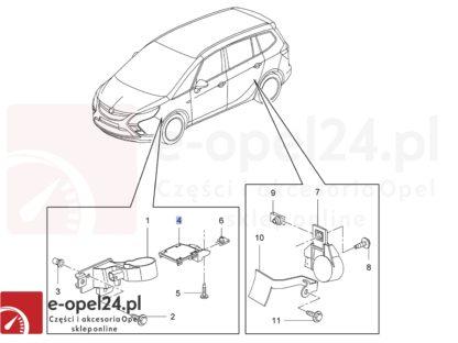 Rysunek - Oryginalna płytka czujnik poziomowania ksenonów Opel Astra J / Zafira C / Cascada - 11235032 / 13287929