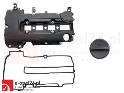 Pokrywa zaworów z uszczelką i korkiem wlewu oleju do Opel Astra J IV / Corsa D E / Insignia A / Meriva B / Mokka / Zafira C 1.2 1.4 oraz 1.4 Turbo - 25198877