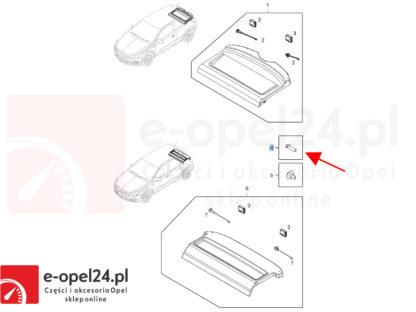 Rysunek - Oryginalny kołek montażowy półki bagażnika Opel Astra H / Vectra C - 2346846 / 24466022