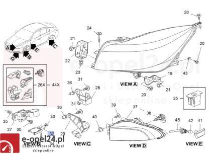 Rysunek - Płytka wzbudzająca czujnik poziomowania świateł ksenonowych Opel Insignia A - 20984732 / 1235056