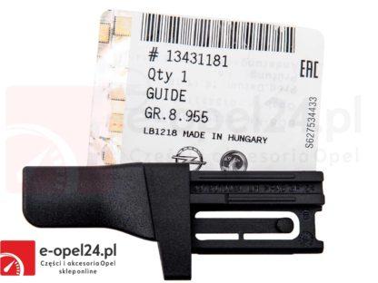 Ślizg prowadnicy lewej rolety bagażnika Opel Astra J IV - 2345569 / 13431181