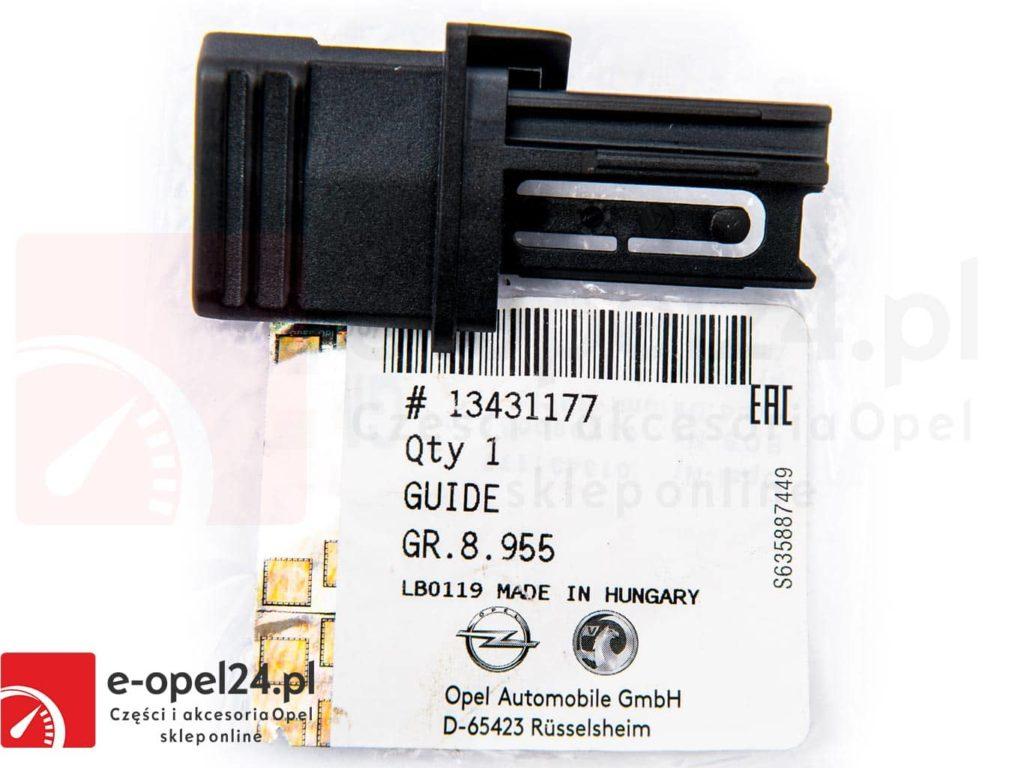 Ślizg prowadnicy lewej rolety bagażnika Opel Insignia A - 2345559 / 13431177