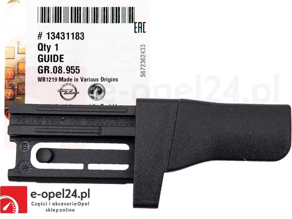 Ślizg prowadnica prawa czarna rolety bagażnika Opel Astra J IV - 2345571 / 13431183