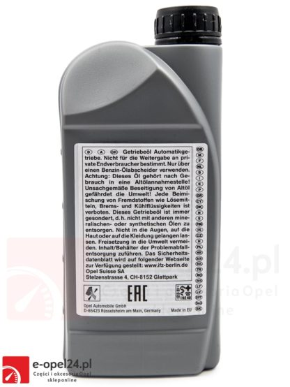 Olej AF40 Opel 4L Oleju z oringami - 1940773 / 93165147