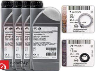 Zestaw wymiany oleju w automatycznej skrzyni biegów AF40 Opel 4L Oleju z oringami - 1940773 / 93165147