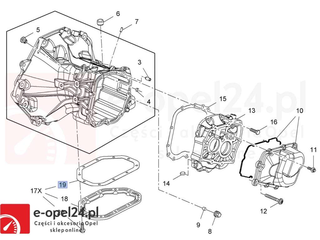 Uszczelka mechanizmu różnicowego oraz olej przekładniowy do manualnej skrzyni biegów F17 M32 F40 F23 - 75W80 - 1940004 / 93165694