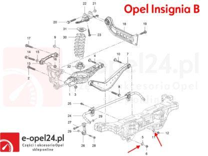 Oryginalna podkładka do regulacyjna ustawienie zbieżność geometrii Opel Insignia A B - 423560 / 13219183