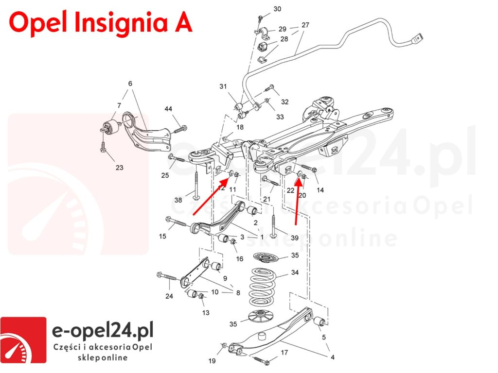 Rysunek - Podkładka regulacyjna ustawienie zbieżność geometrii Opel Insignia A B - 423560 / 13219183
