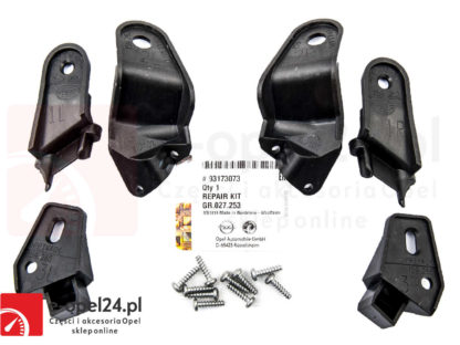 Zestaw uchwytów przednich lamp zestaw naprawczy reflektorów Opel Vectra C / Signum do 2005 - 1612654 / 93173073