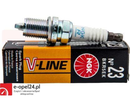 Komplet zapłonowych świec NGK - Vline 23 - 4483-bkr5ek Opel Agila / Astra F G / Combo / Corsa A B C / Frontera A B / Meriva A / Omega B / Tigra / Vectra A B / Zafira - 1214117 / 95519055