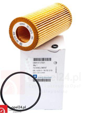 Oryginalny filtr oleju wkład Opel Astra G / Frontera B / Sintra / Omega B / Signum / Vectra B C / Zafira A 2.0 - 2.2 dt-dti - 5650319 / 180038710