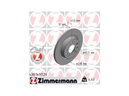 Zimmermann Tarcze hamulcowe tylne - 430.1497.20 Opel Vectra C / Signum - 569115 / 93171848
