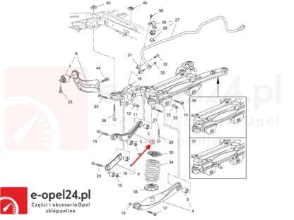 Rysunek - Wahacz tylny górny Opel Isnignia