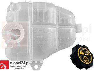 Oryginalny zbiorniczek wyrównawczy płynu chłodniczego z korkiem Opel - 1304002 / 13265592 / 39097904