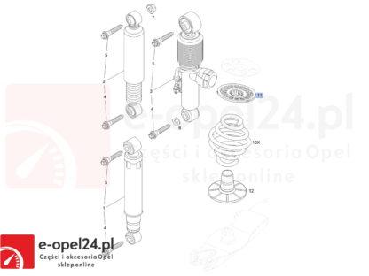 Schemat Vectra C- Podkładki pod sprężyny Opel Meriva A B / Astra H Combi / Zafira B / Vectra C / Signum - 424761 / 90538496