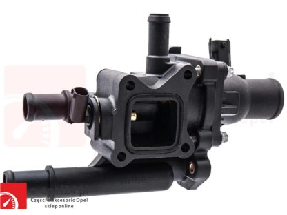 Kompletny termostat z obudową do silników 1.6 1.8 Opel Astra J Insignia Mokka Zafira C 1338372 / 55587349