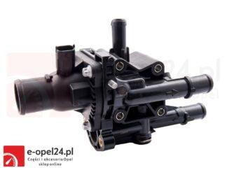 Kompletny termostat układu chłodzenia w zestawie z obudową, uszczelką oraz czujnikami temperatury Opel Astra H III J IV / Mokka / Insignia A / Signum / Zafira B C 1.6 1.8 - 1338177 / 55577073
