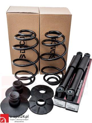 Amortyzatory oraz sprężyny zawieszenia tył oraz podkładki odboje pod sprezyny daco opel astra g sedan hatchback