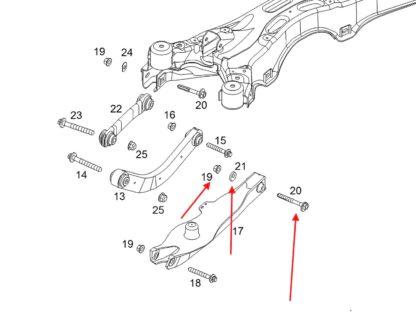 Śruba - Komplet śruba regulacji zawieszenia tył mimośrodowa wahacz Pod spręzyny Opel Vectra C / Signum - 423970 / 24422973