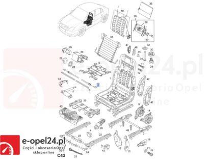 Rysunek - Linka regulacji fotela Opel Vectra C / Signum - 5167302 / 13100008