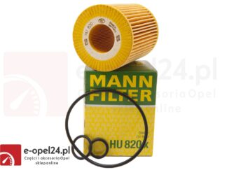 Filtr oleju Mann HU 820 X - Opel Astra G II H III / Corsa C / Meriva A 1.7 CDTI - 5650380 / 93190777