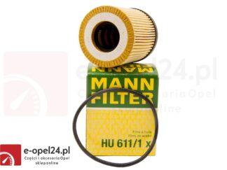 Filtr oleju Mann Hu 611/1 X - Opel Astra G II / Corsa C / Omega B / Signum / Tigra B / Vectra B C / Zafira A