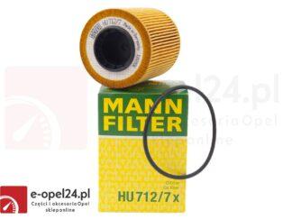 Filtr oleju Mann HU 712/7 X - Opel Astra H III / Agila A B / Corsa C D / Meriva A 1.3 CDTI - 5650367 / 93186856