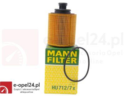 Wkład filtra oleju Opel Mann HU 712/7 X - Opel Astra H III / Agila A B / Corsa C D / Meriva A 1.3 CDTI - 5650367 / 93186856