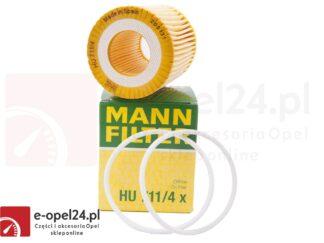 Filtr oleju Mann HU 711/4 X - Opel Astra H III / Signum / Vectra C / Zafira B 1.9 CDTI - 56 50 354 / 93183412