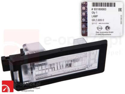 Lampka tablicy rejestracyjnej OE GM Opel Vectra C Kombi - 62 23 510 / 93180083