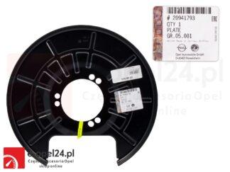 Osłona tarczy hamulcowej lewy tył Opel Insignia A- 546033 / 20941793