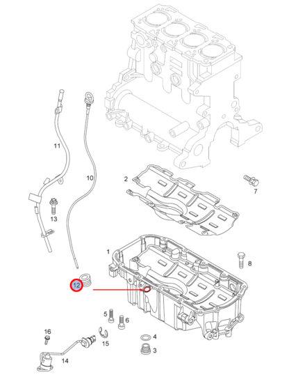 Oryginalna uszczelka miarki bagnetu oleju Opel Astra H Signum Vectra C Zafira B - 6 58 436 93183911