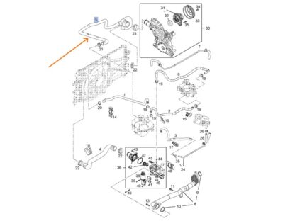 Przewód chłodnicy / trójnik Opel Astra H / Zafira B -1.6 1.8 - 1337715 / 13118272