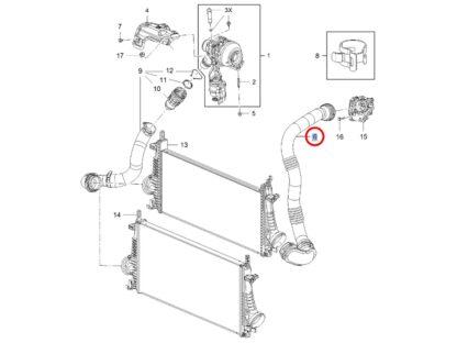 Oryginalna rura powietrza łącząca intercooler z przepustnicą Opel Insignia A 1.6 CDTI- 13419441
