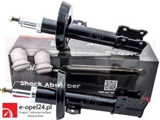 Komplet przednich amortyzatorów lewy oraz prawy firmy Magnum Technology w zestawie z odbojami Opel Astra G II - 453607 / 453608