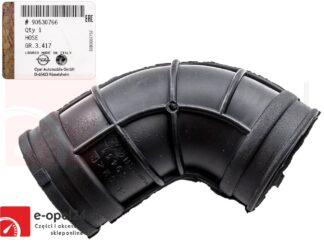 Oryginalny przewód powietrza / kolanko łączące obudowę filtra powietrza z przepływomierzem Opel Astra G H / Zafira A - 5836790 / 90530766