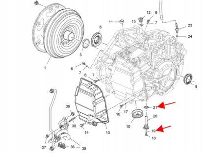 Uszczelka do automatycznej 6-stopniowej skrzyni biegów Opla AF40 Astra H J / Insignia / Meriva B / Signum / Vectra C / Zafira B C - 705493 / 93183578