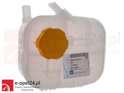 Oryginalny zbiornik płynu chłodniczego z korkiem Opel Zafira B 1.6 / 1.8 / 2.0 / 1.7 CDTI / 1.9 CDTI - 1304242 / 93183141