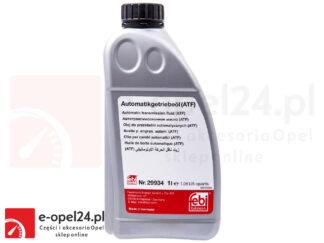 Olej przekładniowy ATF Febi 29934 czerwony do automatycznych skrzyni biegów AF40 / AF50 - 1L Opel Astra H J / Insignia A / Meriva B / Signum / Vectra C / Zafira B C
