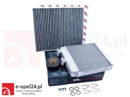 Zestaw naprawczy zaworu nagrzewnicy wraz z nagrzewnicą typu BEHR i filtrem kabinowym Opel Astra G / Zafira A B- 1618142 / 9117283 / 1618143 / 9117284 / 1718042 / 09118699