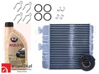 Zestaw naprawczy zaworu nagrzewnicy wraz z nagrzewnicą typu BEHR i płynem chłodzącym K2 KULER Opel Astra G / Zafira A B - 1618142 / 9117283 / 1618143 / 9117284