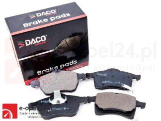 Klocki hamulcowe na przednią oś DACO Opel Astra G II H III / Zafira A B - 1.4 / 1.6 / 1.8 / 1.9 / 2.0 / 2.2 - 1605992