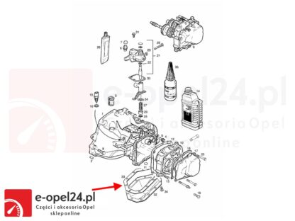 schemat skrzyni biegów f15 f17 opel