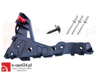 Lewy ślizg zderzaka przedniego w zestawie z nitami i wkrętem Opel Astra H - 1406547 / 24460283