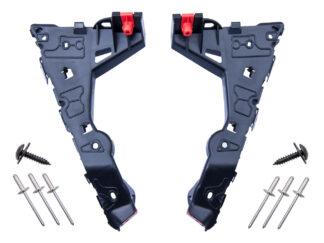 Komplet ślizgów przedniego zderzaka - lewy + prawy wraz z nitami i wkrętami Opel Astra H -1406547 / 24460283 / 1406548 / 24460284