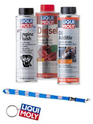 Zestaw produktów Liqui Moly do czyszczenia wtryskiwaczy i ochrony silnika DIESEL- LM2666 / LM2640 / LM8342 +GADŻET