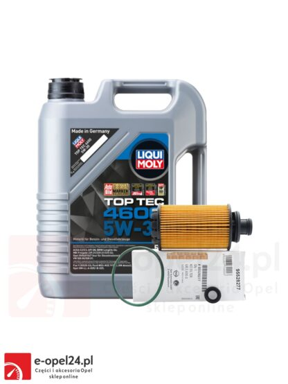 Oryginalny filtr oleju GM i 5L oleju Liqui Moly Top Tec 4600 5W-30 OPEL Antara / Cascada / Insignia A B/ Zafira C - 2.0 CDTI - 95528277 / 2316